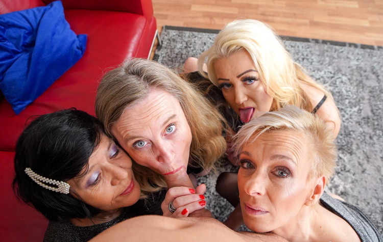 Christine libertine mure et ses copines en Partouze